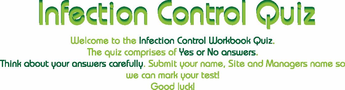Infection Control Workbook Quiz Eces Co Uk