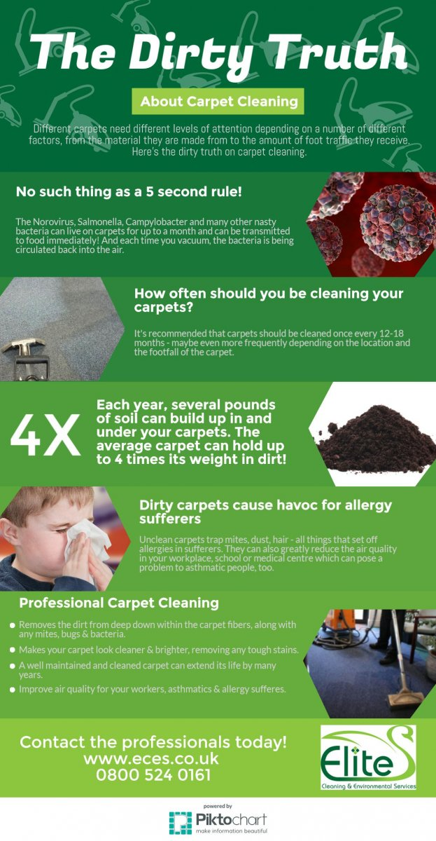 The dirty truth about carpet cleaning Infographic